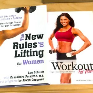 Workout books. Both included.